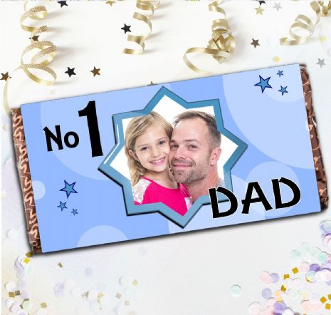 Personalised Fathers Day Milk Chocolate Bar Gift - N11